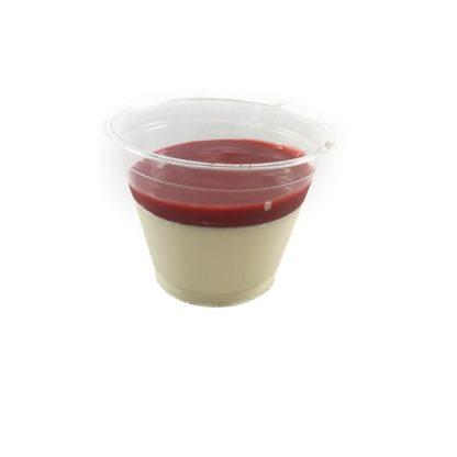 Panacotta vanille et coulis fraise